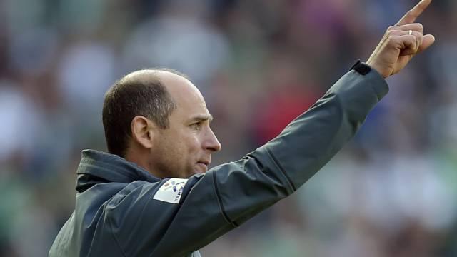 Einen Punkt gerettet: Bremens Coach Viktor Skripnik