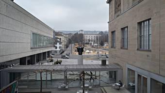 Blick auf die Baustelle der Kunsthauserweiterung.