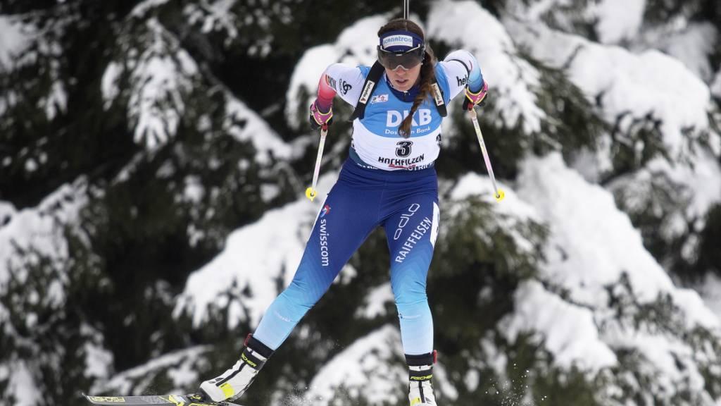 Lena Häcki kommt bei der Aufholjagd nicht vom Fleck. (Archivaufnahme)