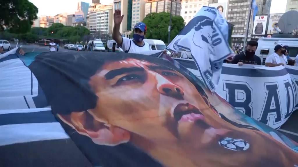 Argentinien trauert um Fussballlegende Diego Maradona