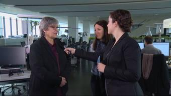 Werfen sich gegenseitig vor, unsachlich vorgegangen zu sein: Elisabeth Abbassi (pro Lehrplan) und Tanja Primault-Suter (contra) im Interview am Abstimmungssonntag.
