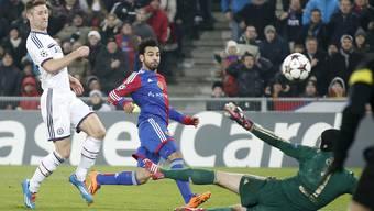 Der entscheidende Moment: Mo Salah trifft in der 87. Minute.