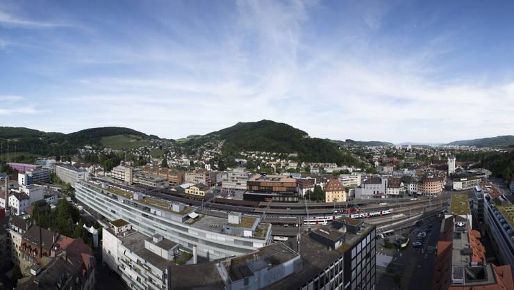 Wohnen in der Stadt wird immer teuer. Blick auf Baden.