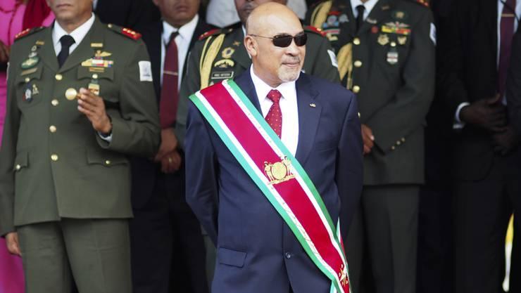 Der Präsident und ehemalige Militärdiktator Desi Bouterse ist in Surinam von seinem Präsidentenamt abgewählt worden. (Archivbild)