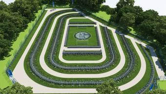 Der Schalke-Friedhof in der Nähe der Veltins-Arena