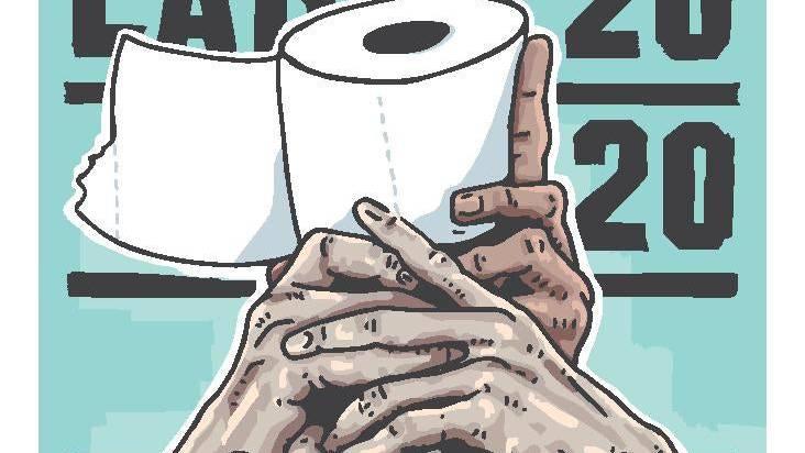 WC-Papier als Trophäe: So verbindet Ronny Heimann die Themen Corona und Fussball auf künstlerische Art und Weise.