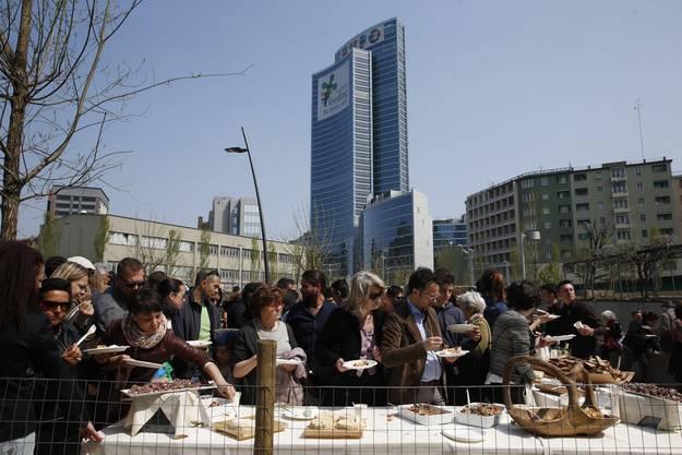 """Das Motto der Mailänder Expo lautet """"Den Planeten ernähren, Energie für das Leben""""."""
