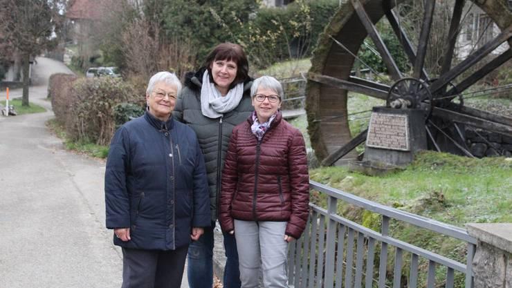 Nelly Jeker, Marianne Odermatt und Marlise Rothenbühler (v. l.) vom Vereinsvorstand.