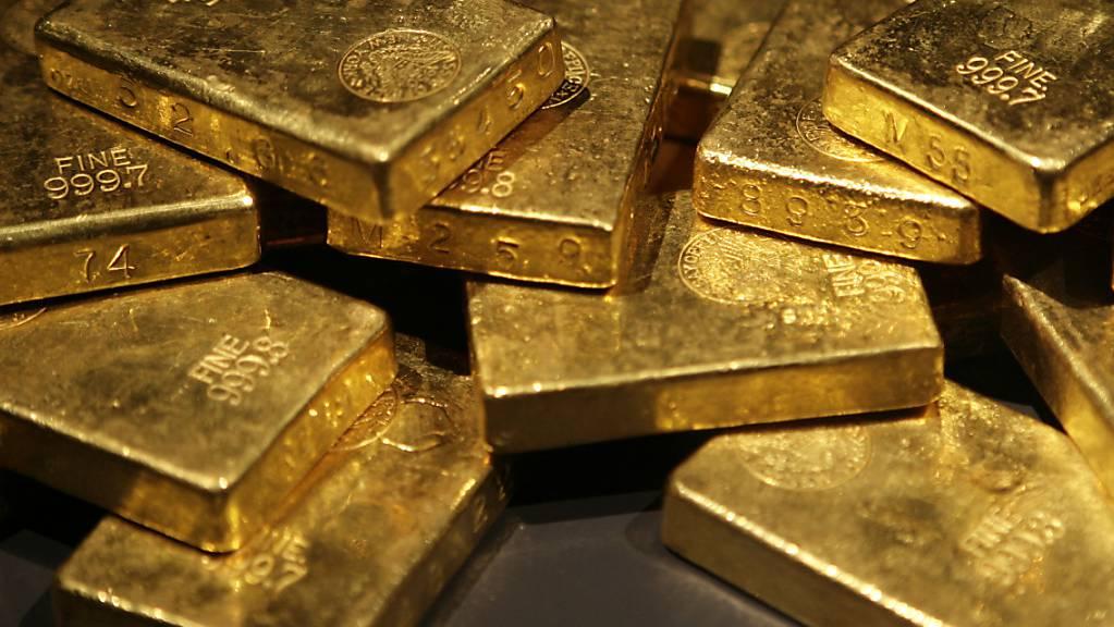 Der Goldpreis ist gestiegen: historische Goldbarren aus den USA (Archivbild).