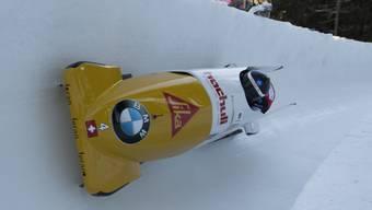 Rico Peter/Alex Baumann vergeben einen Spitzenplatz in St. Moritz im 2. Durchgang.