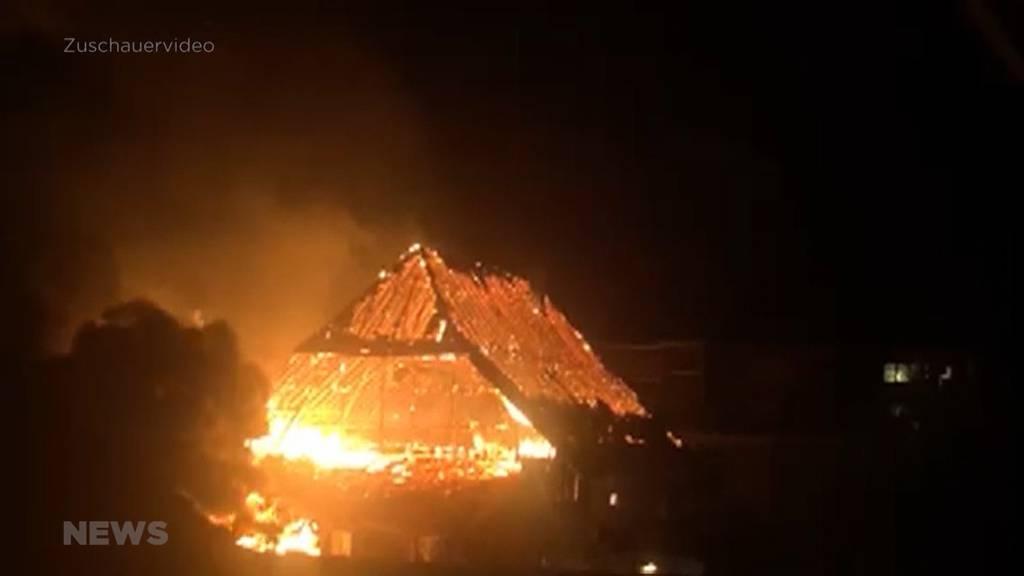 Bauernhaus in Kirchberg brennt bis auf die Grundmauern nieder