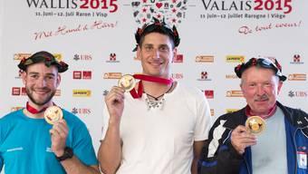 Rafael Bereuter (l.) gewinnt in Südkorea Silber für die Schweiz.