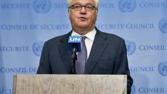 """""""Ein merkwürdiges Spektakel"""": so bezeichnete der russische UNO-Botschafter Witali Tschurkin das Scheitern der beiden Syrien-Resolutionen im UNO-Sicherheitsrat. (Archiv)"""