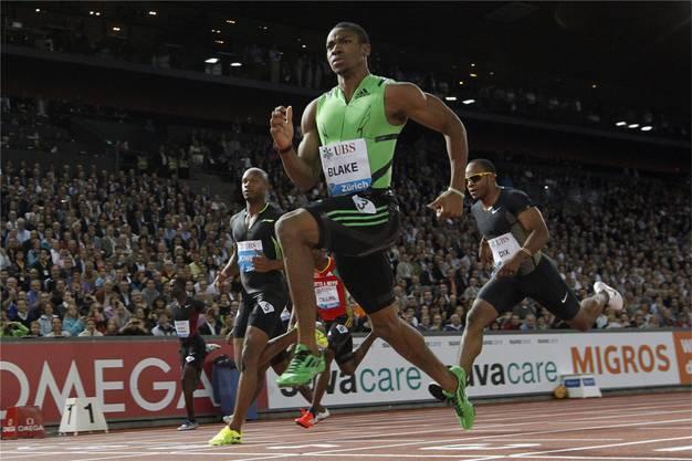 Sieg bei den 100 m von Weltklasse Zürich vor Asafa Powell und Walter Dix.