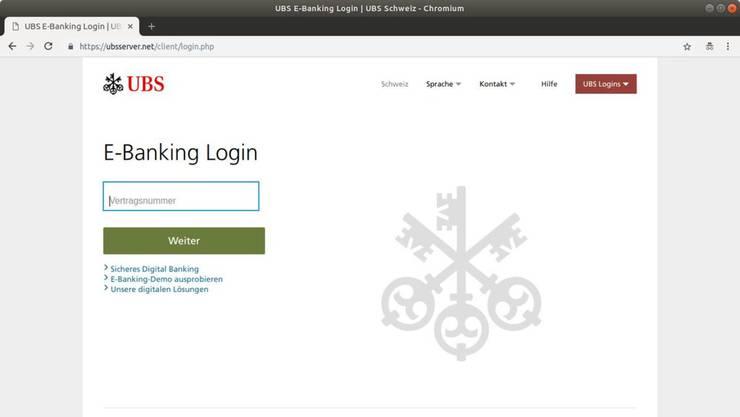Nein, diese Webseite ist nicht von der UBS.