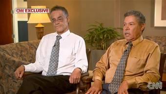Die Anschuldigungen machen ihnen schwer zu schaffen: Onil und Pedro Castro im CNN-Interview.