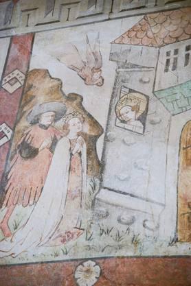 Die heilige Katharina ist im Verliess eingesperrt