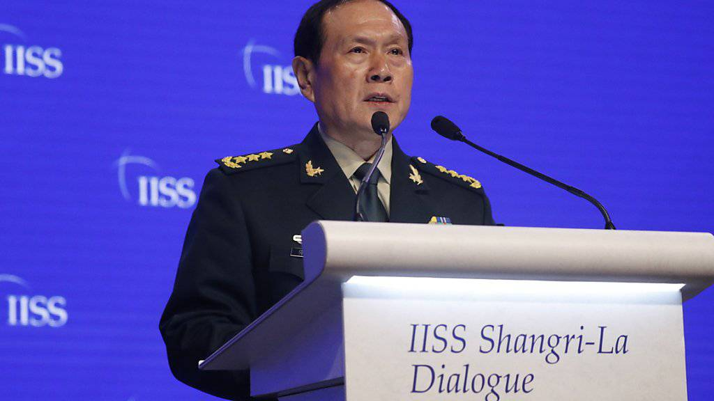 Chinas Verteidigungsminister Wei Fenghe verteidigte am Sonntag auf einer Konferenz in Singapur das Vorgehen seines Landes auf dem Tiananmen-Platz vor dreissig Jahren.