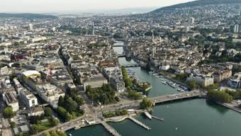 Luftaufnahme der Stadt Zürich von 2012