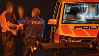 Die Polizei war mit einem Grossaufgebot vor Ort.