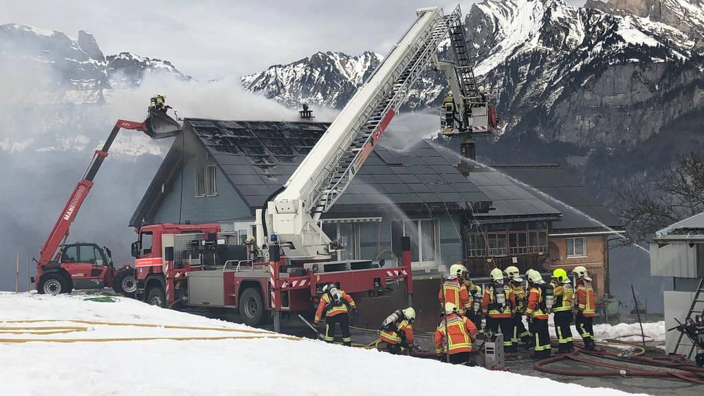 Wohnhaus brennt – Schaden von mehr als hunderttausend Franken