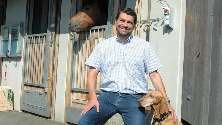 Patrick Kircher, Klinikleiter am Tierspital Zürich: «Mein Hund ist mein Sportbegleiter beim Joggen.»