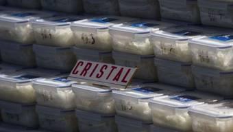 Beschlagnahmtes Crystal im mexikanischen Tijuana
