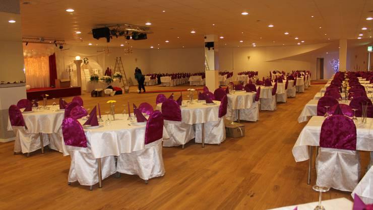 Der Saal hat Platz für 360 Personen