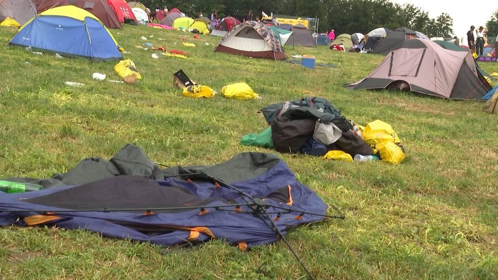 Gurtenfestival: Was passiert mit verlassenen Zelten?
