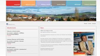 So sieht die Internetseite von AargauSüd aus.