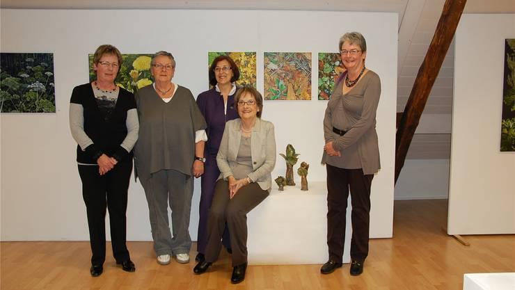 Marie-Theres Stampfli, Marlen Hofer, Ruth Juhasz, Susanna Guerrini und Christine Niederberger (von links).