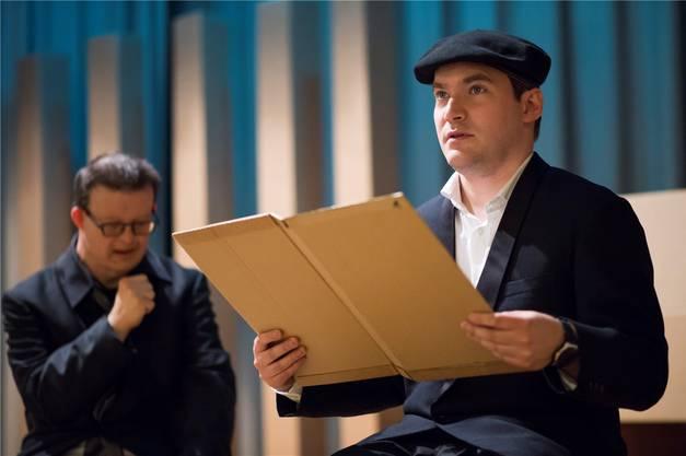 Die Schauspieler mit Handicap proben im reformierten Kirchgemeindesaal in Baden für ihre Aufführung am Donnerstag. Alex Spichale