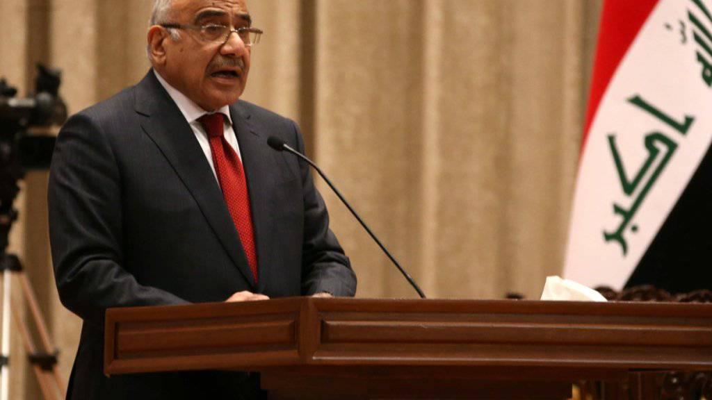 Der schiitische Politiker Adil Abdel Mahdi ist am frühen Donnerstagmorgen zum Regierungschef des Irak ernannt worden.