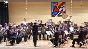 Die Brass Band Harmonie Wolfwil wusste bei ihrem Jahreskonzert in der Mehrzweckhalle zu überzeugen.