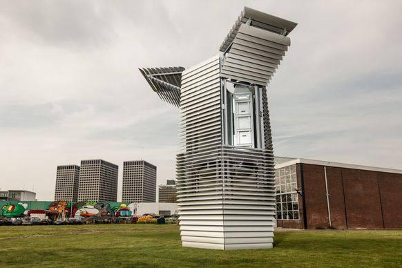 Der Prototyp des Smog Free Tower in Rotterdam