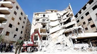 Trotz der Resolution ging der Krieg weiter: Zerstörtes Haus bei Damaskus. YOUSSEF BADAWi/key