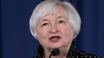 Lässt noch offen, ob die Zinswende bereits Mitte Monat erfolgen wird: US-Notenbankchefin Janet Yellen. (Archiv)