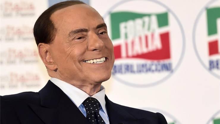 Ex-Premier Silvio Berlusconi auf einer Veranstaltung seiner Partei: Die «Forza Italia» geht mit ihm als Spitzenkandidat ins Rennen.