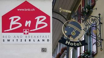 Wer die Wahl hat, hat die Qual: «Nur» Bett mit Frühstück bei privaten Anbietern – oder doch lieber Unterkunft im Hotel?