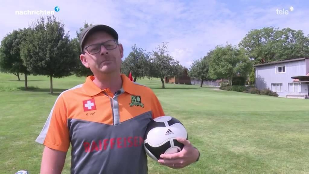 Kombination aus Golf und Fussball: Footgolf in Neuenkirch