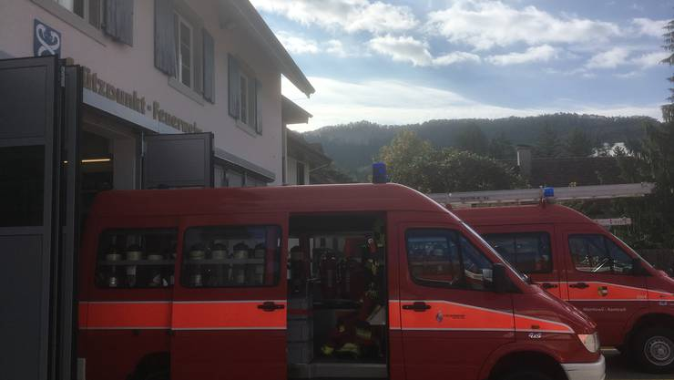 Die Feuerwehren treffen sich in Balsthal