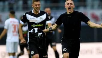 Lugano mit Mattia Bottani, einem der Torschützen, spielte sich auf Platz 3