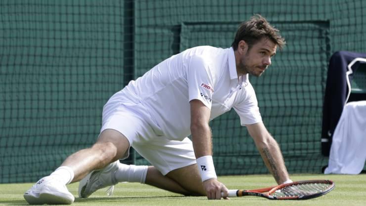 Im Viertelfinal von Wimbledon gestrauchelt: Stan Wawrinka