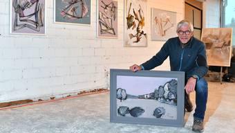 Jürg Meyer stellt seine Werke während der kommenden zwei Tage in der «Kulturgarage» aus.