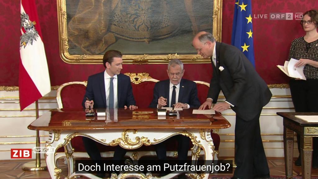 Riesenpanne beim Regierungsantritt von Kurz und Co: ORF untertitelt Telenovela-Dialoge 😂