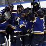 Die St. Louis Blues bejubeln ihren Einzug in den Stanley-Cup-Final
