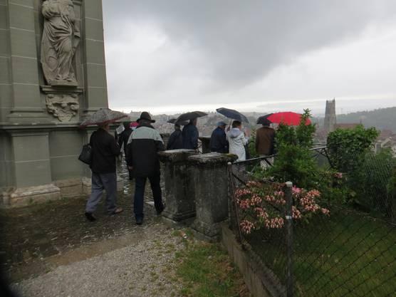 Es regnete ein wenig in Fribourg.