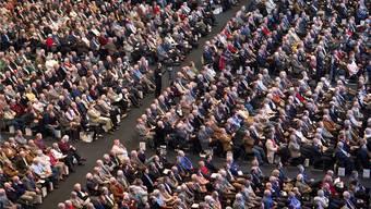 Aktionärsversammlung: Ab 2015 sollen Pensionskassen zur Abstimmung gezwungen werden.Martin Ruetschi/Keystone
