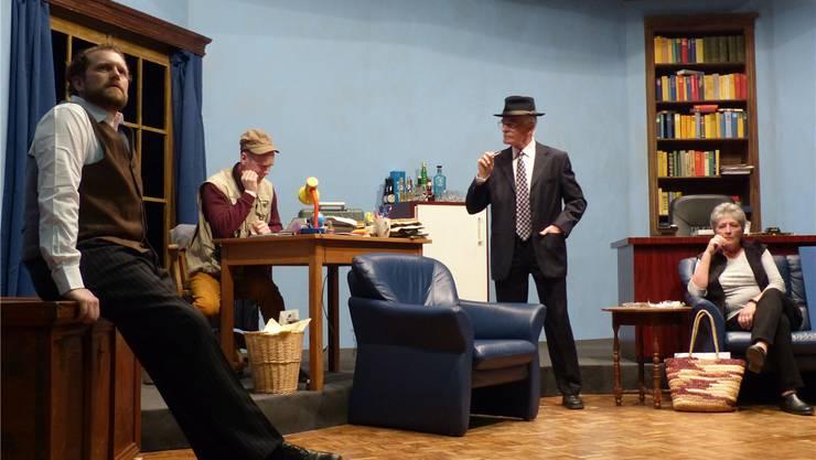 Spannend, raffiniert, anspruchsvoll: Der Theaterverein Spielleute Hottwil zeigt das Kriminalstück «Der Haken». ari