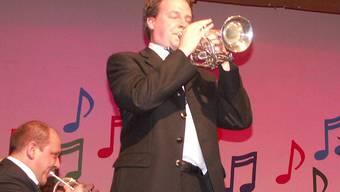 Marcel Langensand erwies sich bei seinem Auftritt als hervorragender Cornet-Solist.max weyermann